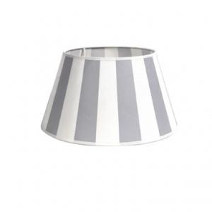 King Lampenschirm mit Streifen in grau-weiß
